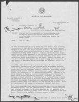 Memo from David Herndon and Jarvis Miller to William P. Clements regarding Proposed Statutory Amendment to Internal Revenue Code, July 23, 1982