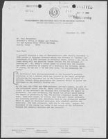 Letter from Milton L. Holloway to Paul Wrotenbery, September 17, 1980