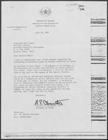 Letter from William P. Clements to Mark White, July 16, 1981, regarding severance tax increases