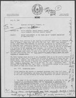 Memo from David A. Dean, to William P. Clements regarding Seaward Annexation, July 21, 1981