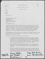 Letter from Bob Bullock to Mark White, May 28, 1981