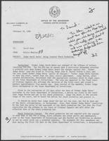Memo from Willis Whatley to David Dean, regarding Judge Garth Bates Being Granted Shock Probation, February 29, 1980