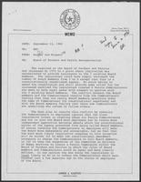 Memo from Jim Kaster and Lee Biggart to William P. Clements regarding Board of Pardons and Parole Reorganization, September 12, 1980