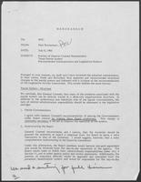 Memo from Paul Wrotenbery to William P. Clements regarding Review of General Counsel Memorandum Texas Parole System, July 8, 1980