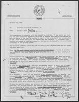 Memo from David A. Dean to William P. Clements regarding Board of Pardons and Paroles, November 24, 1980