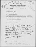 Memo from Jim Francis to Allen Clark regarding attached correspondence, December 12, 1979