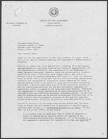 Letter to Attorney General Mark White from Governor William P. Clements, Jr.