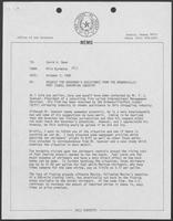 Memo from David Dean to Milo Burdette regarding a request for Governor's assistance from the Brownsville/Port Isabel shrimping industry, October 7, 1980