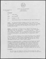 Memo from Dary Stone to Linda Howell addressing nepotism and state appointees, November 2, 1979