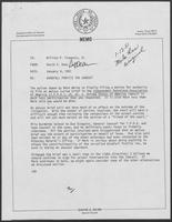 Memo from David A. Dean, to William P. Clements regarding Windfall Profit Tax Lawsuit, January 9, 1981