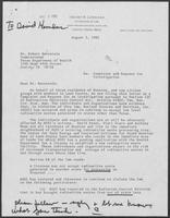 Letter from Henry and Lowerre Law Firm to Robert Bernstein regarding Complaint and Request for Investigation, August 2, 1982