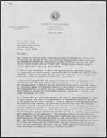 Letter from David A. Dean to Ross Perot regarding new responsibilities for the Texans War Against Drugs Committee, July 23, 1981