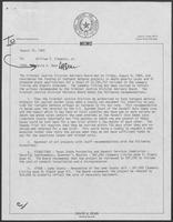 Memo from David A. Dean to William P. Clements, August 15, 1980