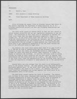 Memo from Milo Burdette to David A. Dean, regarding Texas Department of Human Resources Building, undated