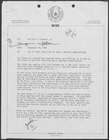 Memo from David A. Dean, to Governor William P. Clements, Jr., regarding use of state facilities by public employee organizations, September 29, 1980