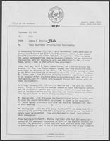 Memos from Johnny R. McCollum regarding Texas Department of Corrections Overcrowding, September 1981