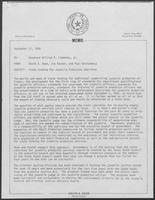 Memo from David A. Dean, Jim Kaster, and Paul Wrotenbery to William P. Clements, Jr. regarding State Funding for Juvenile Probation Subsidies, September 12, 1980