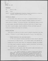 Memo from Staff to David A. Dean regarding Criminal Justice Division Staff Recommendations Regarding Proposed Legislation to Establish Statewide Juvenile Probation Services in Texas, August 26, 1980