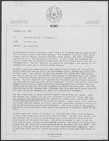 Letter from David A. Dean to William P. Clements regarding including of a Bail Bond Bill in his Anti-Crime Package, November 20, 1980