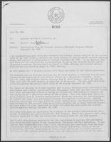 Memo from David Dean to William P. Clements, July 29, 1980
