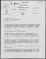 Letter from Bob Bullock to James P. Oliver, November 18, 1982