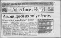 "Newspaper clipping titled, ""Prisons speed up early releases,"" October 23, 1986"
