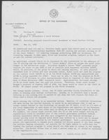Memo from Paul T. Wrotenbery and David Herndon to William P. Clements regarding Revising Proposed Constitutional Amendment on State Welfare Ceiling, May 21, 1982