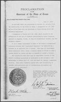 Proclamation by the Governor of the State of Texas, 41-1682, June 17, 1977.