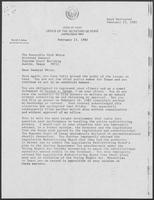 Correspondence between David Dean and Mark White, February 23, 1982