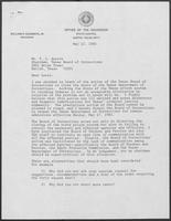 Letter from Governor William P. Clements, Jr., to T. L. Austin, May 12, 1982