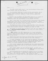 Draft of letter by William P. Clements, Jr., regarding campaign fundraising, June 20, 1985