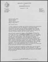 Letter from Oscar Mauzy to Mark White, February 27, 1981