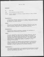 Memo from Willis Whatley and Johnny McCollum to David Dean, April 23, 1980