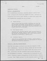 Draft Report: Communication Services, December 1, 1980