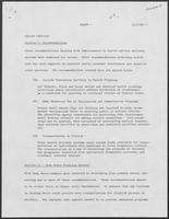 Draft report: Health Services, December 1, 1980