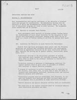 Draft report: Educational Services for Youth, December 1, 1980