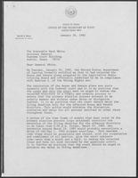 Letter from David Dean to Mark White, January 26, 1982