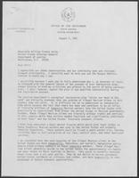 Letter from William P. Clements to William French Smith regarding the Justice Department's immigration plan, August 7, 1981