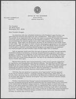Letter from William P. Clements to President Reagan regarding the conference with President Lopez Portillo, undated