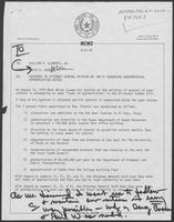 Memo from David A. Dean to William P. Clements, Jr., regarding response to Attorney General Opinion No. MW-51 regarding gubernatorial appropriation vetoes, September 21, 1979
