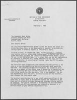 Letter from William P. Clements to Mark White, February 2, 1982