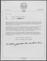 Memo from David Dean to Bill Clements, May 12, 1980