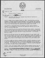 Memo from David A. Dean to William P. Clements, regarding Appointment and Size of the Expanded Texas Probation Commission to Include Juvenile Services, November 25, 1980