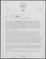 Memo From: David A. Dean, To: William P. Clements, regarding State Funding for Juvenile Probation Subsidies, 19 September 1980