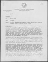 Memo From: CJD Staff, To: David A. Dean, Subject: CJD Staff Recommendation Regarding Proposed Legislation to Establish Statewide Juvenile Probation Services in Texas, 5 September 1980