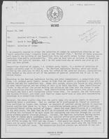 Memo from David A. Dean to William P. Clements regarding Selection of Judges, August 19, 1980