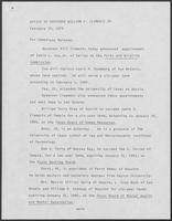 Press release from the Office of Governor William P. Clements, Jr. regarding appointments, February 15, 1979