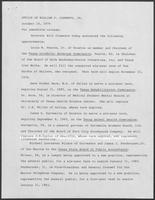 Press release from the Office of Governor William P. Clements, Jr., regarding appointments, October 15, 1979