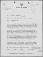 Memo from Paul Wrontenbery to Bill Clements, November 4, 1981