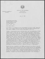 Letter from William P. Clements, Jr. to Mark White, July 30, 1981